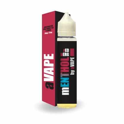Red Berg mENTHOL range by aVAPE 0mg 50ml Zero Nicotine e-liquid